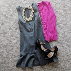 Grey drop waist dress
